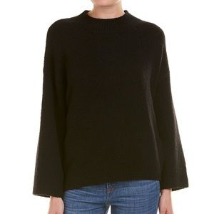 NWT Vince Boxy Black Wool Pullover